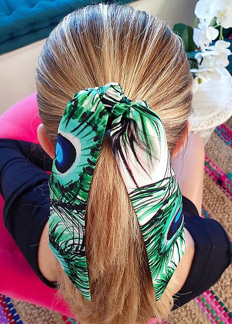 White Tiger bow scrunchie
