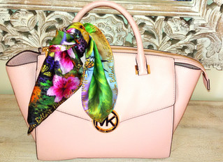 Add color to your outfit and decorate you handbag with fashion silk scarf!!!