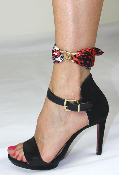 Panther ankle silk bracelet
