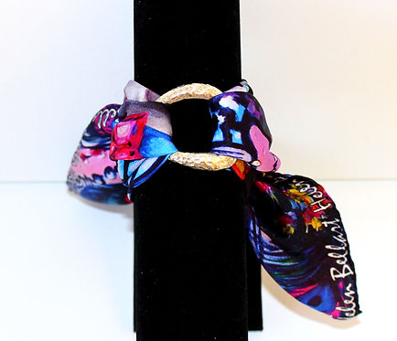 Peacock mask silk bracelet
