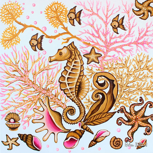 Gold Seahorse artwork