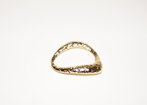 Gold Ring for silk bracelet