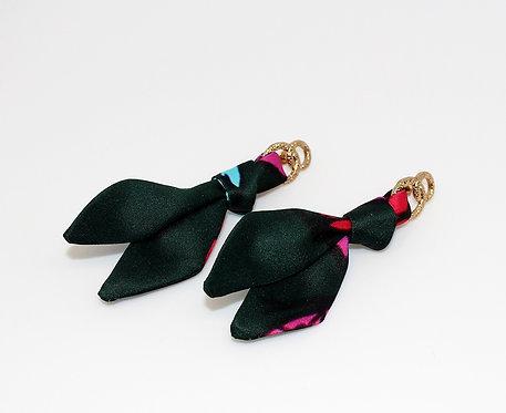 Leopard & Butterflies tie earring