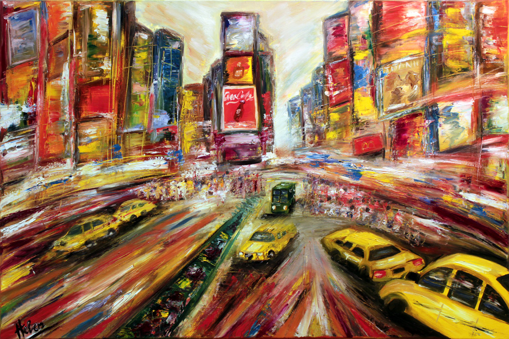 New York, Broadway, 120x80cm