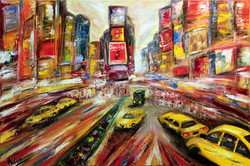 New York, Broadway, 120x80cm