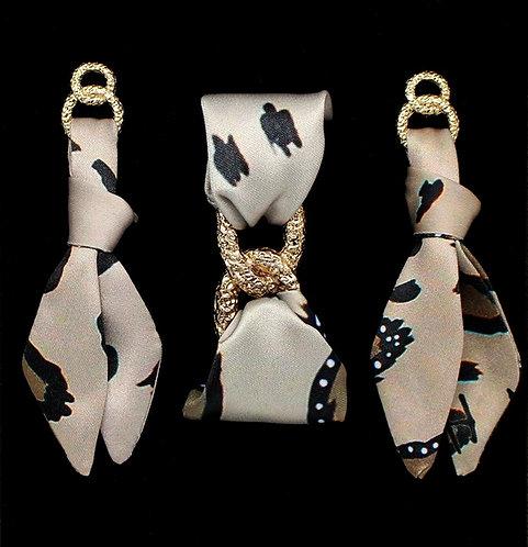Leopardo tie earring & bracelet