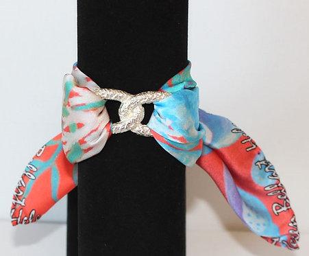 Seahorse Infinity silk bracelet