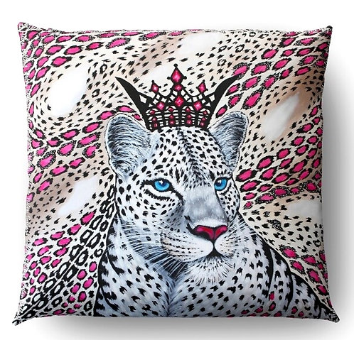 White Leopard decorative pillow cover