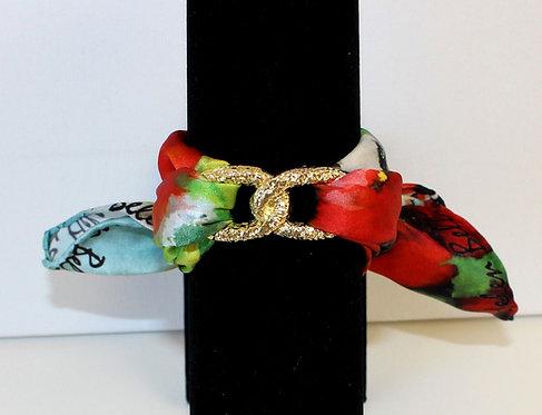 Poppies Infinity silk bracelet