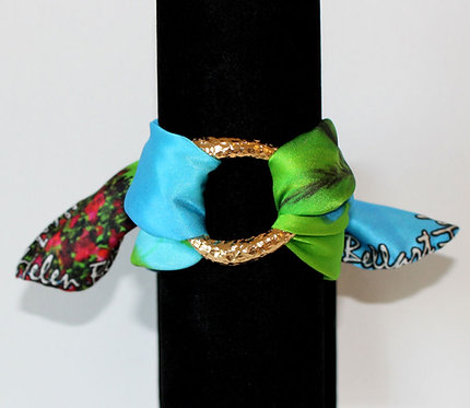 Golf Lady silk bracelet