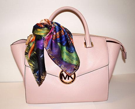 Exotic woman silk scarf 45x45 cm