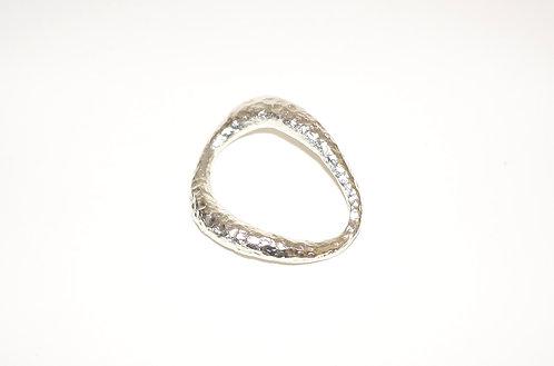Silver Ring for silk bracelet