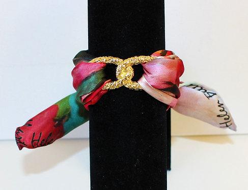 Blooming cherry Infinity silk bracelet