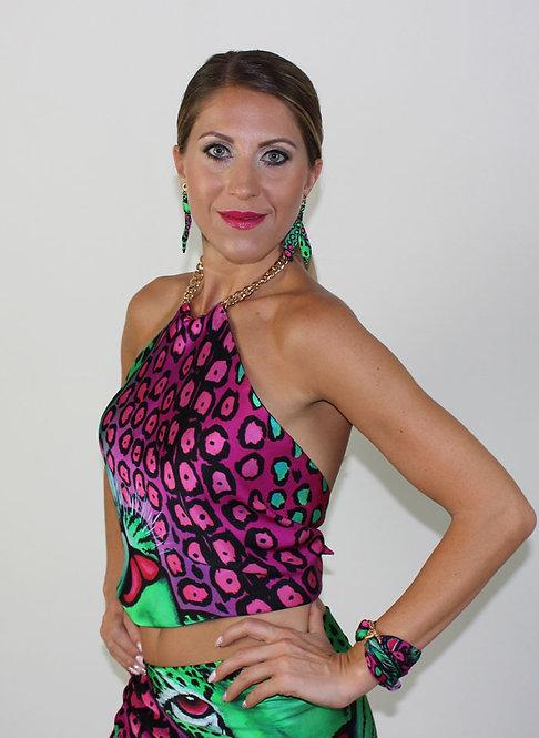 Exotic Leopard silk top