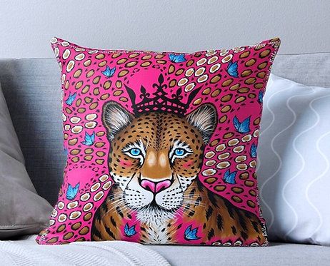 Candy Leopard decorative pillow cover