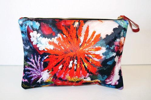 Colorful Corals clutch bag