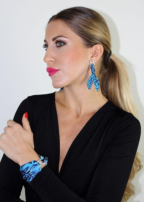 Feline silk tie earring