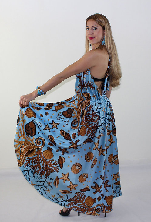 Sea Treasure crossover dress with double use