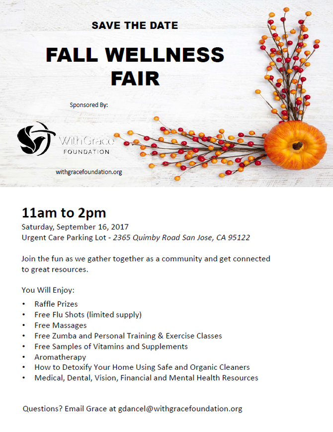 Save the Date: Fall Wellness Fair on Saturday, September 16th from 11am-2pm!