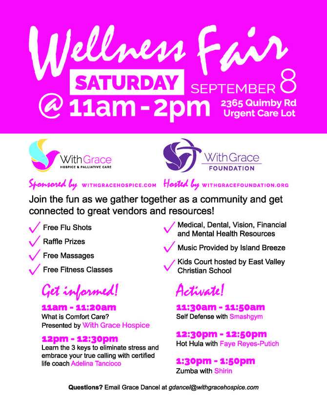 Join Our 2nd Annual Fall Wellness Fair on Saturday, September 8th!