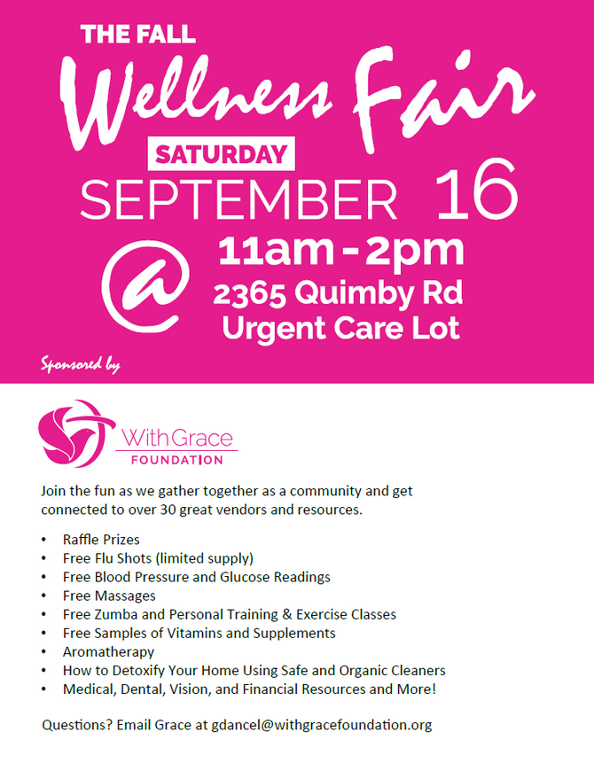Join Our Fall Wellness Fair on Saturday, September 16th from 11am to 2pm!