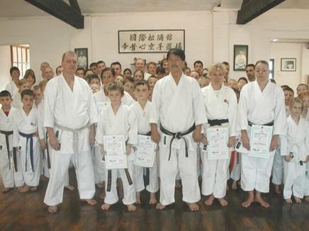 Sensei Kershaw, Hanshi Asano and Konjaku Shin Members
