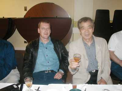 Sensei Kershaw with Soke Kanazawa