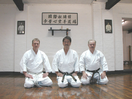 Sensei Kershaw, Hanshi Asano, Sensei Palmer