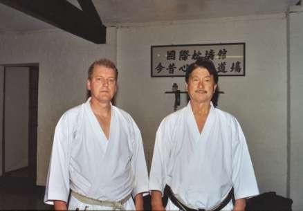 Sensei Kershaw with Hanshi Asano