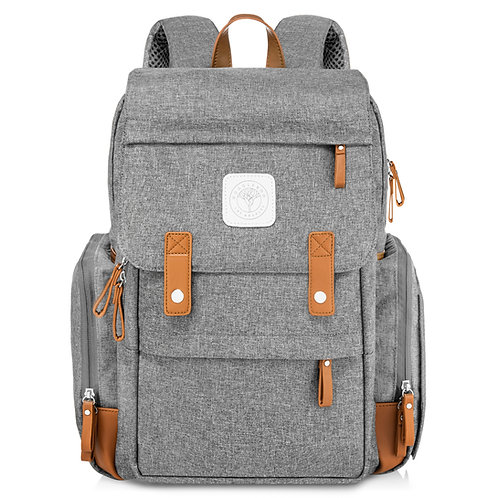 Baby On-The-Go Diaper Backpack (Grey)