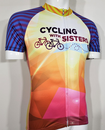 cycling with sisters custom jersey