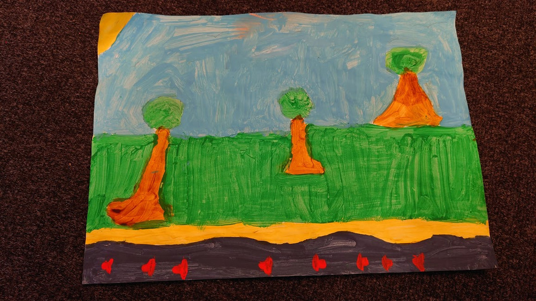 Flamingo Class have worked to show their understanding of creation through art.