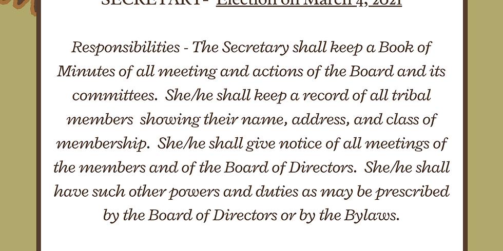 Election - Secretary