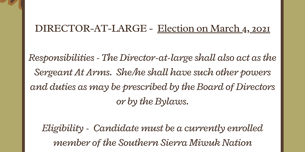 Election - Director at Large