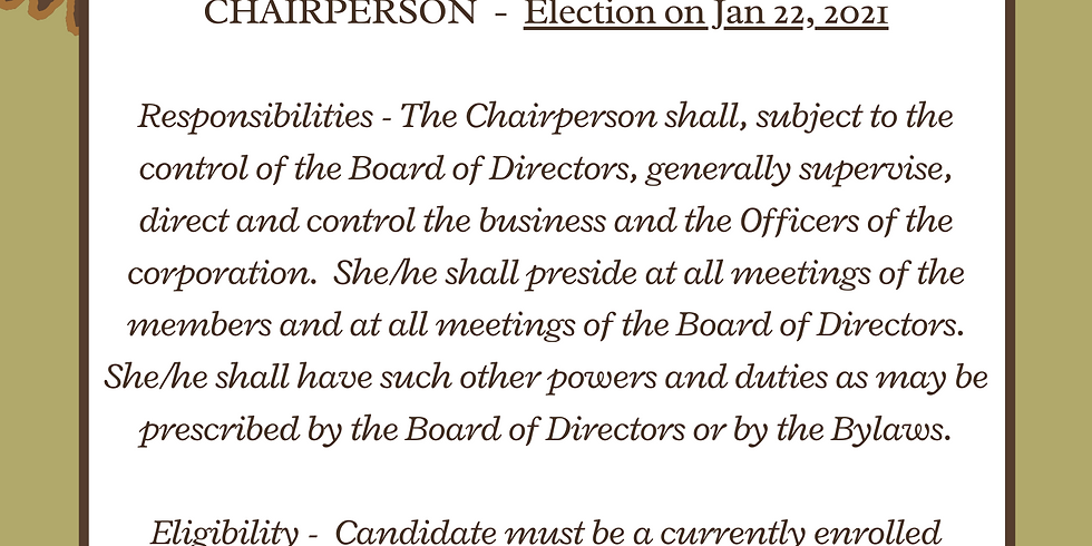 Election - Chairperson
