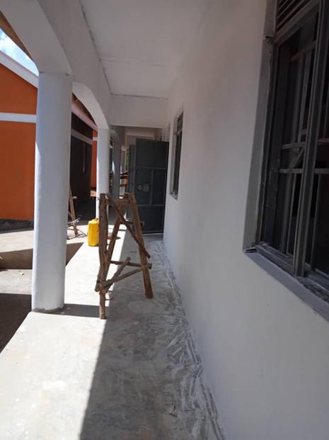 Baufortschritt der Vorschule in Kawolokota