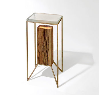 Illuminated Post Pedestal in wood by CODOR Designs