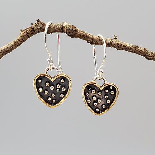 Bohemia Earrings, Polka Dot Hearts