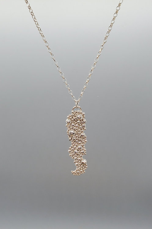 Tiny Bubbles Sterling Silver Large Pendant