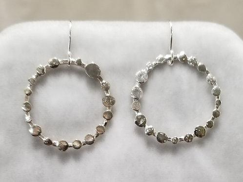 Stepping Stones Hoop Earrings