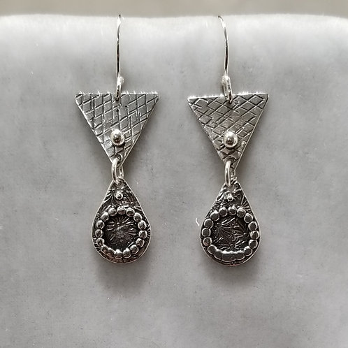 Dangles, Sterling Silver Triangles and Teardrops