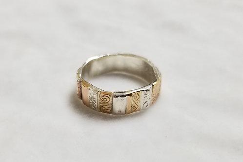 Gotham Sterling Silver & 14k Gold Ring, Size 9.25
