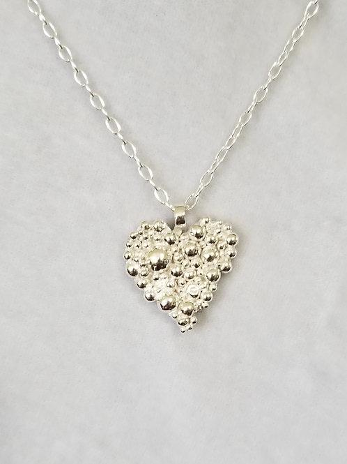 Tiny Bubbles Heart Pendant