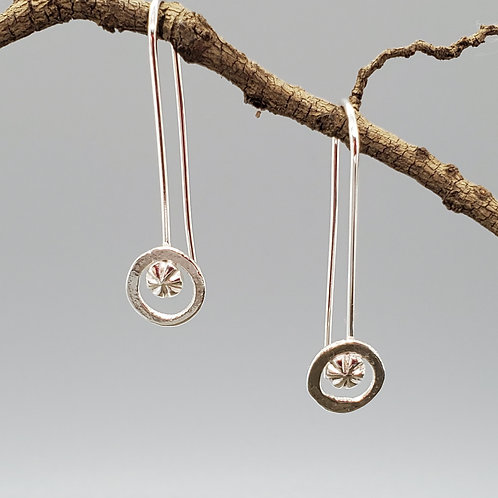 Delica Drop Earrings, Rings with Pressed Designs
