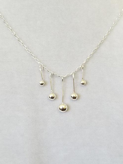 Delica, Sterling Silver Ball Necklace