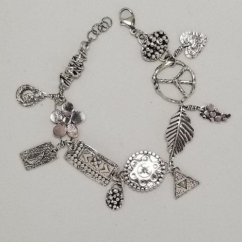 Wild Charms Bracelet, Sterling Silver, #10