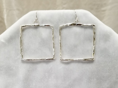 Fused Squares Earrings, Size Large