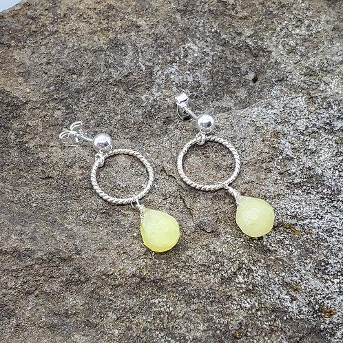 Color Drops Earrings with Lemon Quartz Dangles