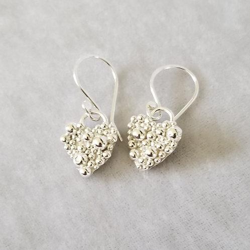 Tiny Bubbles, Tiny Hearts Earrings