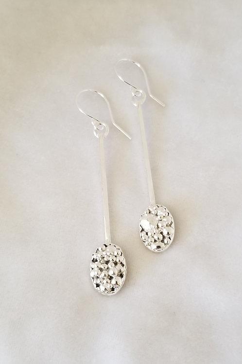 Tiny Bubbles, Little Baskets Earrings